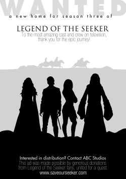 "Peticija za spašavanje serije ""Legend of the Seeker"""